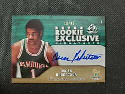 2009-10 Oscar Robertson Sp Game Used Auto Retro Rookie Exclusive Insert 18/25