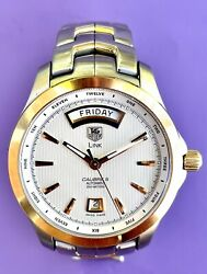 Tag Heuer Men's Link Automatic Automatic Day-date Watch Swiss Made Wjf2050