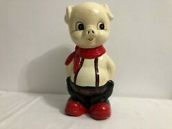 Antique Porcelain Pig Saving Bank Box Money Coins Banknote Home Office Collect