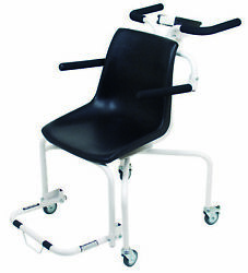 Detecto 6880 Digital Rolling Chair Scale, 400 Lb X 0.2 Lb, Rs232, Lcd, Wifi