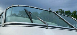 1995 Crownline 27andrsquo Cabin Cruiser Right Side Front Windshield Curved Glass Piece