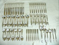 Holmes And Edwards Danish Princess Silver-plated Baby Spoon And Fork