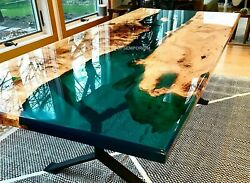 Epoxy Resin Table - Epoxy Resin Dining Table Epoxy Table Acacia Wood Furniture