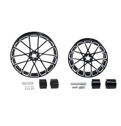 23 Front 18'' Rear Wheel Rim W/ Hub Fit For Harley Touring Road King 2008-2021