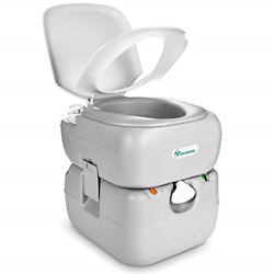 Yitahome Portable Toilet 5.8 Gallon,travel Rv Potty With Level Indicator,t-type