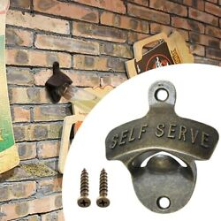 Antique Green Ancient Zinc Alloy Wall-mounted Bottle Opener Fixed Wall-mounted