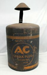 Early Ac Spark Plug Cleaning Service Model F Advertising Sign Store Display