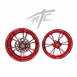 Yzf 240 Fat Tire Candy Red Contrast Vandetta Wheels 2004-2008 Yamaha Yzf R1