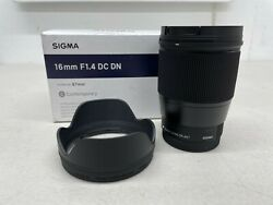 Sigma 16mm F/1.4 Dc Dn Contemporary Lens For Canon Ef-m Mount