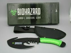 Biohazard Zombie Throwing Axe Tactical Hunting Hatchet Survival Knife New