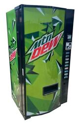 Dixie Narco 501e Mtn Dew Soda Vending Machine Cans And Bottles Mdb Free Shipping