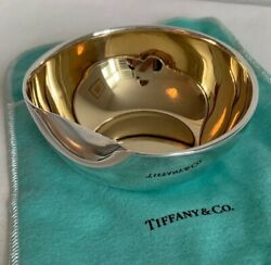 Rare And Co Sterling Silver Elsa Peretti Thumbprint Collection Bowl
