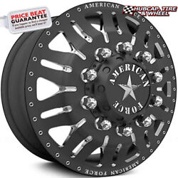 American Force Omen 28x8.25 Black Dually Wheels Set Of 6-forged