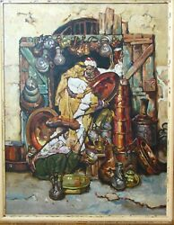 After Dean Cornwells The Copper Shop In Jerusalem Oil Painting On Canvas