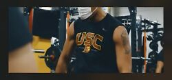 """2021 Usc Trojans Nike Football Shirt 2xlteam Issued Dri Fit Conditioning """"tough"""""""