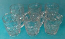 6 Budweiser Beer Fun Party Drink Glasses Glass Thick 50 Cl Ref 302762336594