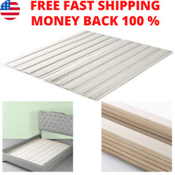 Solid Wood Bed Support Slats Fabric-covered Bunkie Board Queen Sturdy Support