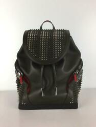 Christian Louboutin Leather Leather Black Fashion Back Pack 1584 From Japan