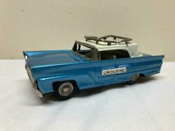 1957 Cragston Lincoln Limousine Tin Car With Roof Rack - 6 - Very Nice