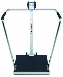 Detecto 6856 Bariatric Medical Scale With Handrail 1000lb X 0.2lb W/ Ac Adapter