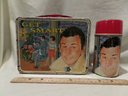 Vintage 1966 Get Smart Metal Lunchbox With Matching Thermos By King Seeley The
