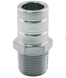 Heater Hose Connector - Straight Type With 3/8 Npt On One End And Male Nipple On