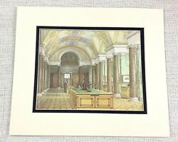 1983 Vintage Print The Hermitage Russia Romanov Royal Gallery Of Maps And Prints