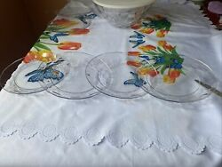 Tupperware Ice Prisms 8 Round Acrylic Plates Set Of 4 Clear New