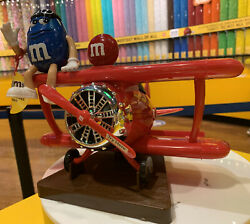 Mandm's World Red Airplane Plane Chocolate Candy Dispenser Excellent Gift Favor