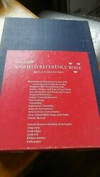 The Scofield Reference Bible Red Letter Edition Kjv 1967 Black, Gold Edges, Gold