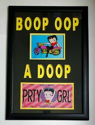 Betty Boop Oop A Doop Authentic Animation Cell Specialty Custom Matt Lic Plate
