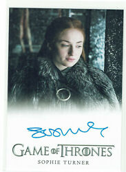 Game Of Thrones Inflexions Autograph Sophie Turner Sansa Stark Extremely Limited