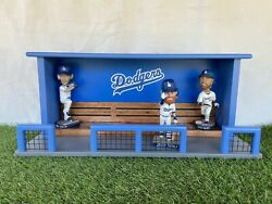 Los Angeles Dodgers Baseball Bobblehead Dugout Display Case Bench