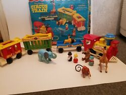 1973 Fisher Price Play Family Circus Train Set Toy 991 Complete W Original Box