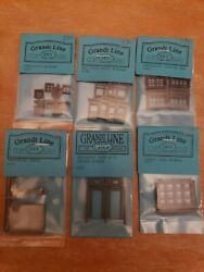 Lot Of 6 Assorted Ho Scale Grandt Line Windows And Doors New