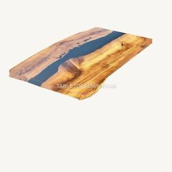 Custom Epoxy Table L Epoxy Dining Table L Natural Acacia Wood Rivertable Table