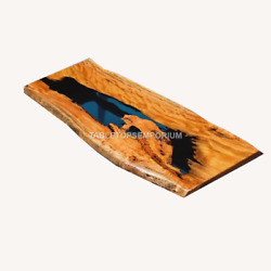 Coffee Table Acacia Special Offer. Сape Elm Table With Black Epoxy Resin Tops