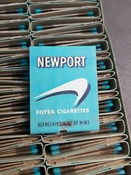 Rare Vtg Matches Newport Cigarettes Usa Matchbook Complete Box Nos There Are 50