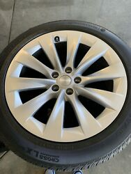 """Tesla Model X Slipstream 20"""" Wheels And Tires Package"""