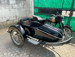 Motorcycle Sidecar With Universal Mounting Kit Deluxe Rocket Sidecar