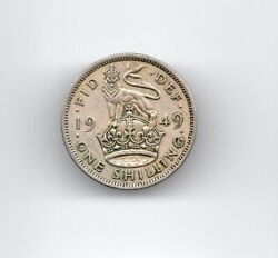 Great Britain 1949 One Shilling Circulated Coin