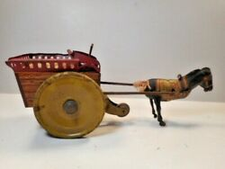 Vintage Ferdinand Strauss Jenny The Balking Mule Tin Wind Up Toy Parts Only