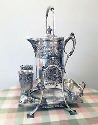 Spectacular Tilting Water Pitcher - Rogers Smith, Quadruple Silver Plate