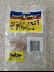 Yellow Jacket 19165 Quick Coupler 1/2 Acme Female X 1/4 Male Flare Straight