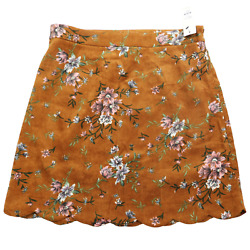 Nwt Chance Brown Multicolor Floral Skirt Womenand039s Size Large