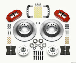 Wilwood Narrow Superlite 6r Front Hub And 1pc Rtr Kit 12.88in-red 74-80 Pinto Disc