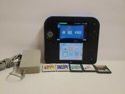 Nintendo 2ds Blue And Black W 5 Games Authentic Tested And Working Fast Shipping