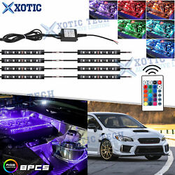 8x Rgb Led Engine Bay Light Strips Remote Wireless Control 1 4-outlet For Subaru