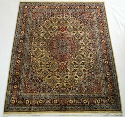 Fine Quality 6.5 X 9 Ft Hand-knotted Wool Carpet, Oriental Area Rug For Bedroom