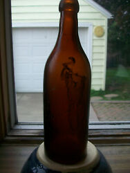 Simon Pure Buffalo Ny Brown Blob Top Beer Bottle Lancaster Glass Works